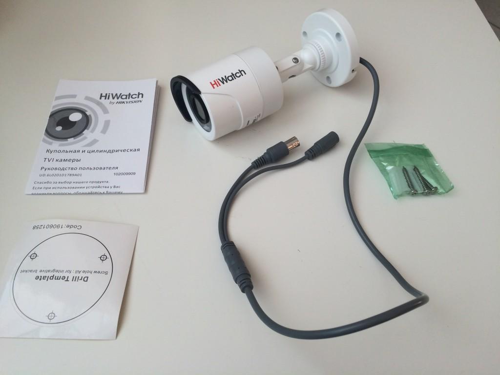 Уличная HD-TVI видеокамера HiWatch DS-T200 с объективом 3,6 мм на 2мп, по цене 3890 руб.